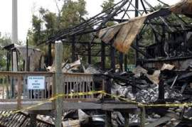 The Oar House after the fire